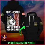 U.S. Army Fort Jackson Where boys become men ALL OVER PRINTED SHIRTS 022505