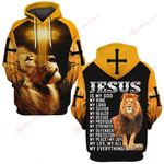 Jesus is my God my Lord my King my Everything yellow lion ALL OVER PRINTED SHIRTS DH0226