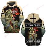 A Child of God a woman of Faith a warrior of Christ  ALL OVER PRINTED SHIRTS DH022703