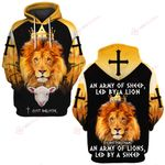 Jesus God An Army of sheep, Led by a Lion is better than an Army of Lions, Led by a sheep ALL OVER PRINTED SHIRTS 022804