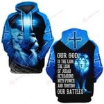 Our God is the Lion of Judah He's roaring ALL OVER PRINTED SHIRTS DH030303