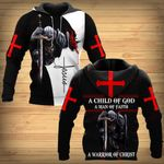 A Child of God a Man of Faith a Warrior of Christ Knight Christian ALL OVER PRINTED SHIRTS DH0304