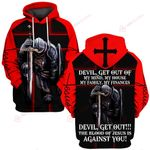 Jesus God Devil Get out of my mind my house my family my finances ALL OVER PRINTED SHIRTS 030401