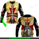 Jesus God Knights Templar Personalized Name ALL OVER PRINTED SHIRTS 030406