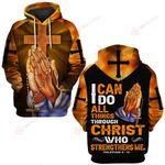 I can do all things through Christ who strengthens me God hand Cross ALL OVER PRINTED SHIRTS DH030507