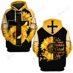 I can do all things through Christ who strengthens me sunflower ALL OVER PRINTED SHIRTS  DH030506