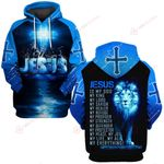 Jesus is my life my all  Everything blue lion ALL OVER PRINTED SHIRTS DH030703