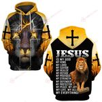 Jesus is my life my all  Everything yellow lion ALL OVER PRINTED SHIRTS DH030702