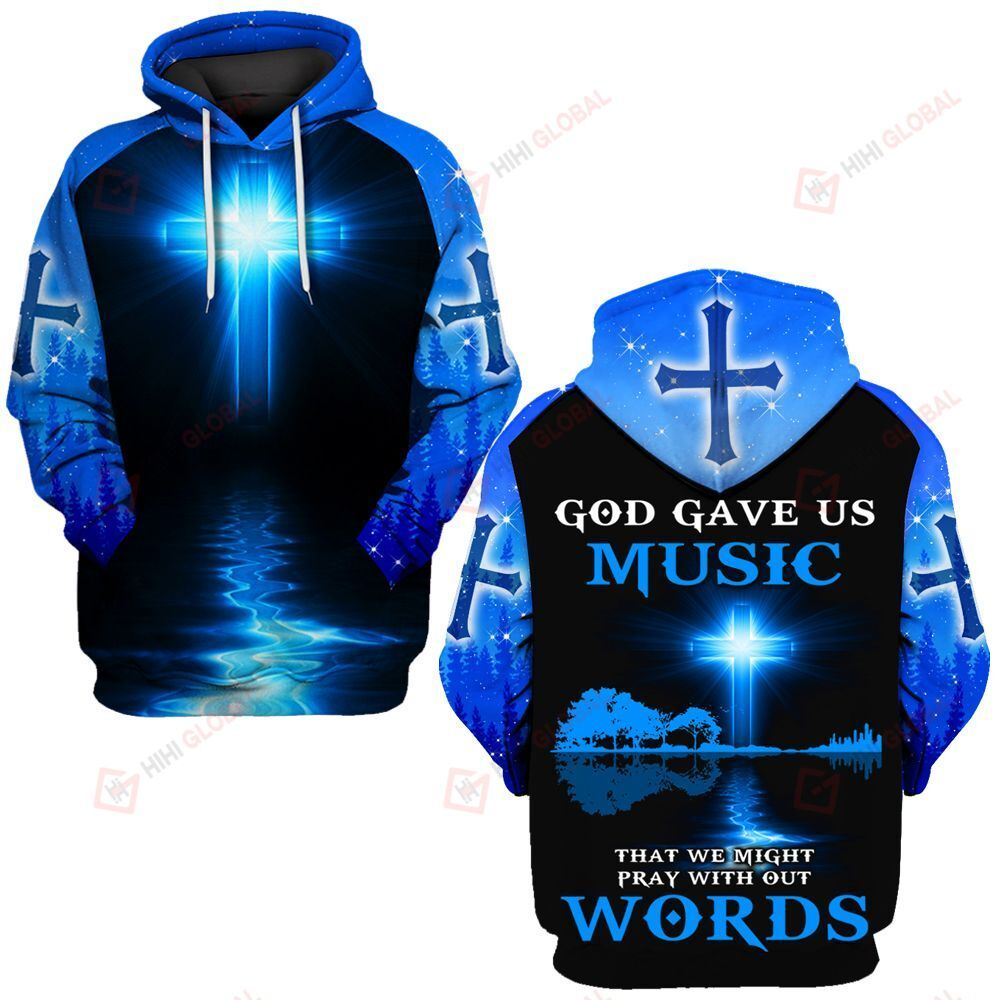 God gave us music that we might pray with out words  ALL OVER PRINTED SHIRTS DH0312