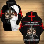 A Child of God a woman of Faith a warrior of Christ Jesus ALL OVER PRINTED SHIRTS DH031604