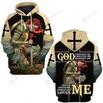 God heals defends forgives loves me ALL OVER PRINTED SHIRTS DH031603