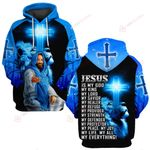 Jesus is my everything blue lion back ALL OVER PRINTED SHIRTS DH0320