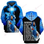 Jesus is my everything blue jesus back ALL OVER PRINTED SHIRTS DH032002