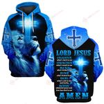 Lord Jesus strengthen what's weak in me cross Lion Amen ALL OVER PRINTED SHIRTS DH032406