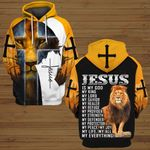 Jesus is my God my King yellow lion God  ALL OVER PRINTED SHIRTS DH050704