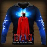 Dad Christian man of God my Hero  ALL OVER PRINTED SHIRTS DH050803