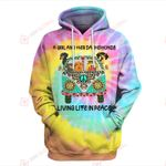 A girl and her dachshunds living life in peace Tie Dye 3D ALL OVER PRINTED SHIRTS Hoodie hh0511203