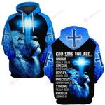 A 1 God says you are blue lion Jesus God ALL OVER PRINTED SHIRTS DH051204