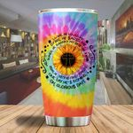 A Living he loved me sunflower Jesus Tumbler ALL OVER PRINTED SHIRTS dh051315