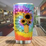 A God says you are unique sunflower Tumbler ALL OVER PRINTED SHIRTS dh051302