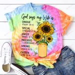 God Jesus God says my Wife is ALL OVER PRINTED SHIRTS hoodie  0512105