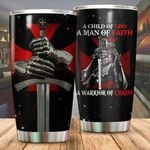 A child of God warrior of Christ Tumbler ALL OVER PRINTED dh051325