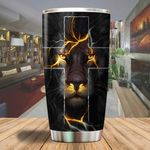 Jesus is my everything yellow cross Lion Tumbler ALL OVER PRINTED dh051321