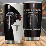 A Child of God a man of Faith Tumbler ALL OVER PRINTED dh051329