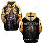 I would rather stand with God and be Judged by the world Knight lion ALL OVER PRINTED SHIRTS DH052102