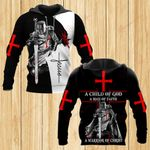 A Child of God a man of Faith a warrior of Christ ALL OVER PRINTED SHIRTS DH052203