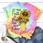 Let your Faith be bigger than your Fear sunflower God Jesus ALL OVER PRINTED SHIRTS DH052204