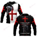 A Child of God knight Christian Jesus cross ALL OVER PRINTED SHIRTS DH052305