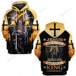 Jesus born as a baby coming back as a King knight Christian ALL OVER PRINTED SHIRTS DH052307