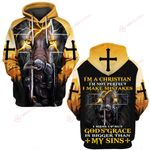 I'm a Christian God's Grace Knight Christian Jesus ALL OVER PRINTED SHIRTS DH052308