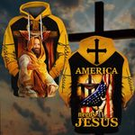 America needs Jesus US Flag Cross ALL OVER PRINTED SHIRTS DH052501