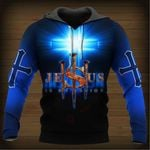 Jesus is my Savior blue cross ALL OVER PRINTED SHIRTS DH052701