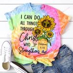 I can do all thing through Christ who strengthens me sunflower ALL OVER PRINTED SHIRTS DH052801