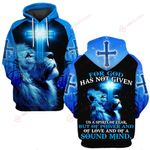 For God has not given us a spirit of fear blue lion ALL OVER PRINTED SHIRTS DH060901