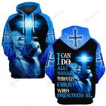 I can do all things through Christ who strenthens me blue lion ALL OVER PRINTED SHIRTS DH061001