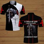 A Child of God a man of Faith a warrior of Christ Knight Jesus ALL OVER PRINTED SHIRTS DH061201