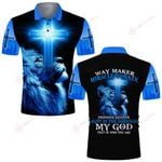 Way maker blue lion ALL OVER PRINTED SHIRTS DH061304