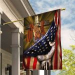 July 4th American Flag Jesus hand cross All Over Printed Flag DH061305