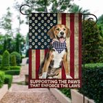 Supporting the paws that enforces the law ALL OVER PRINTED SHIRTS Flag-061501