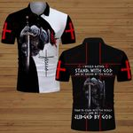 I would rather stand with God Knight Jesus Christian God ALL OVER PRINTED SHIRTS DH061504