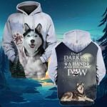 In the darkness I found a paw Siberian Husky Dog Owner Lover ALL OVER PRINTED SHIRTS hoodie  -061504