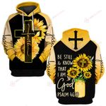 Be still and know I am God sunflower Jesus ALL OVER PRINTED SHIRTS DH061601