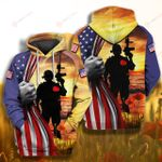 Veteran Flag Memorial Veteran 4th July ALL OVER PRINTED SHIRT 0616203