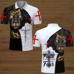 Let your faith be bigger than your fear Jesus lion ALL OVER PRINTED SHIRTS DH061501