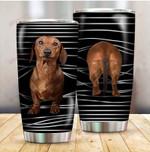 Dog Dachshund Funny Stripes Dog Mom ALL OVER PRINTED Tumbler v1 hh0617103
