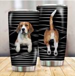 Dog Beagle Funny Stripes Dog Mom ALL OVER PRINTED Tumbler v1 hh0617100